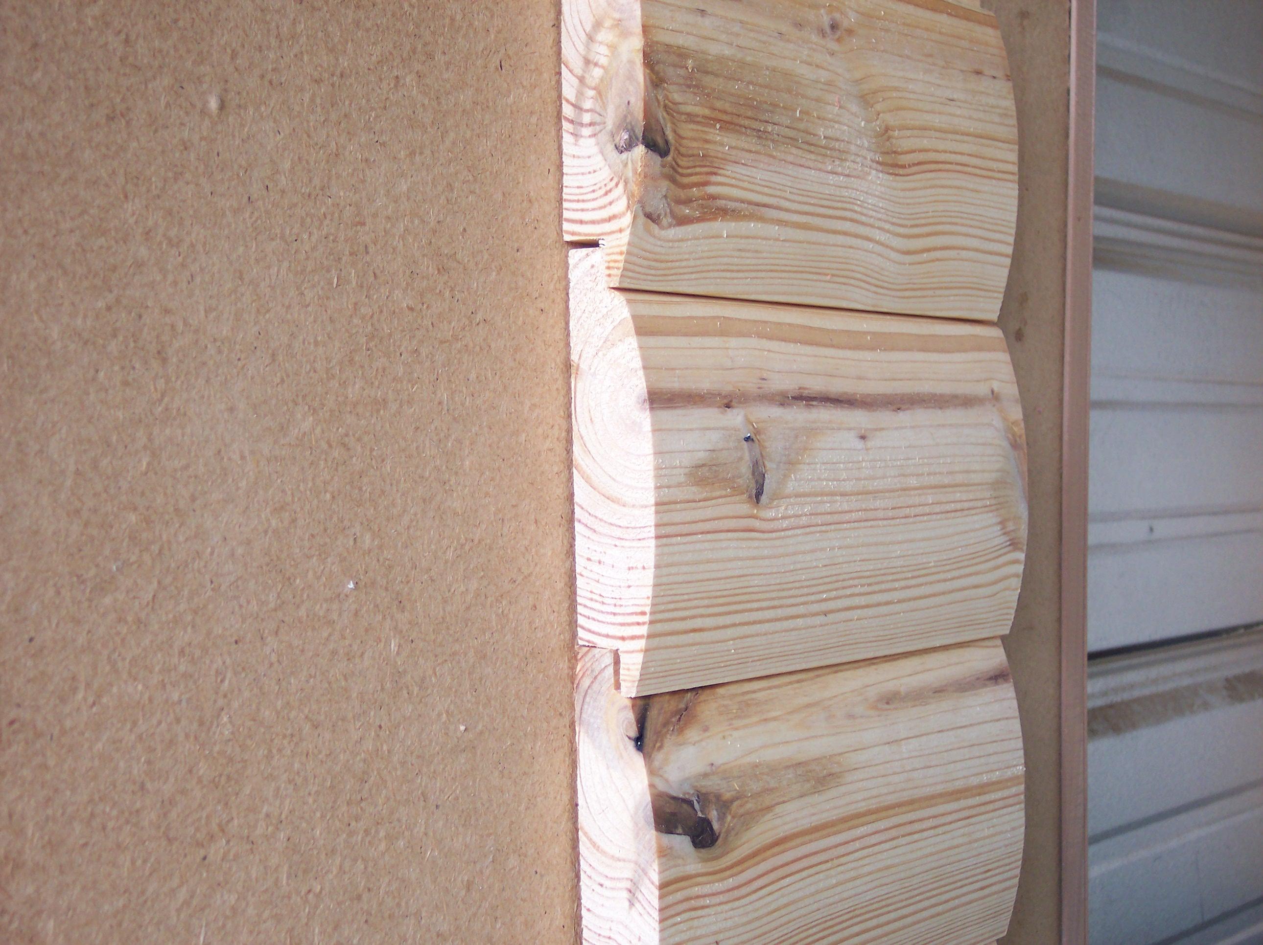 Pine log siding E log siding